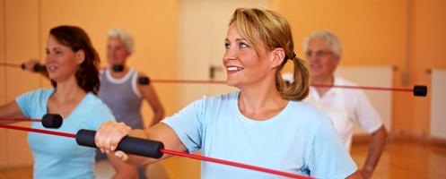 Fitnesstraining mit Schwingstab